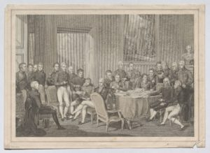 Sitzung des Wiener Kongresses 1815